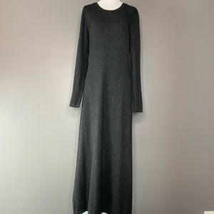 Calvin Klein gray maxi sweater dress